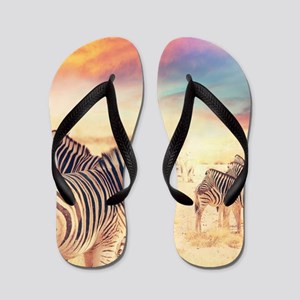 Beautiful Zebras Flip Flops